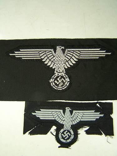 SS BeVo eagles, arm eagle and hat eagle ( late war)