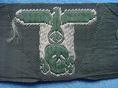 SS M 43 trapezoid for Feldmuetze, BeVo