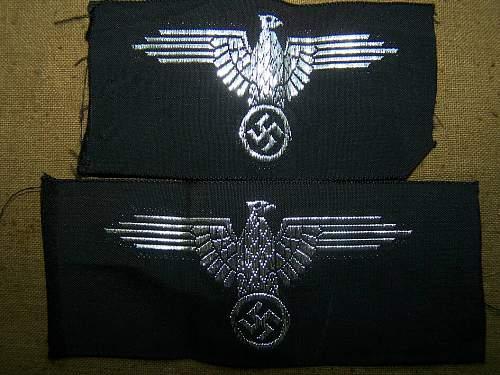 Belgian Reitz made woven SS cap eagles