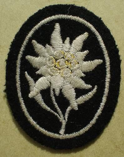 Ärmel-Edelweiss der Waffen-SS