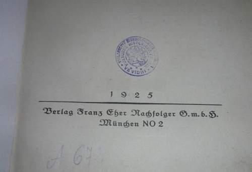 1925 Adolf Hitler Mein Kampf