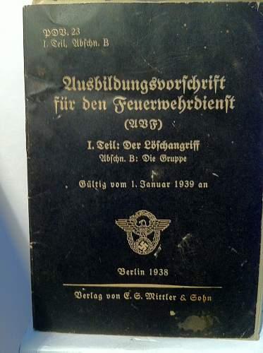 German firefighter instruction book