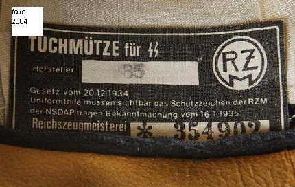 RZM tags in black SS caps