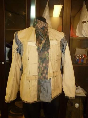 1944 cotton drill SS camo tunic