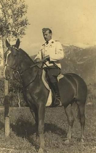 White SS uniform in wear