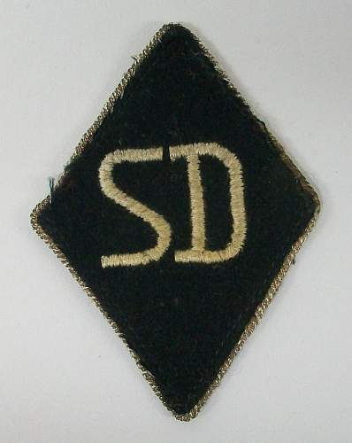 SD Raute and metal runic collar tab insignia: opinions please