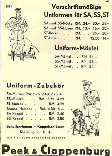 SS regalia: fakes and rarity as seen in the year 1936