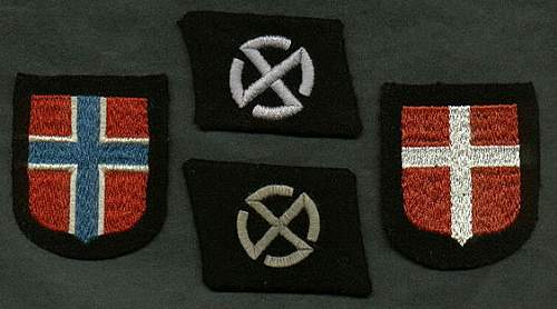 Danish voluntier from NORDLAND div. arm shield-caould it be real??
