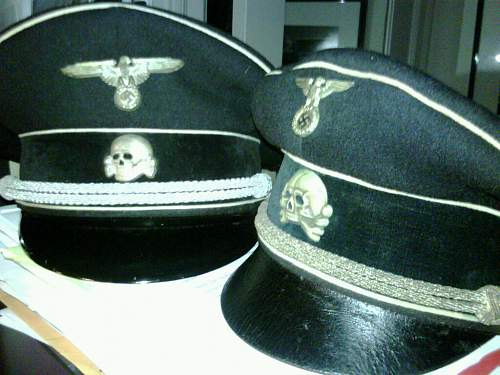 grey SS officer's caps.