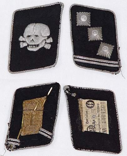Totenkopf collar tab, real?
