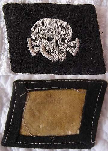SS-Totenkopf Collar Tab