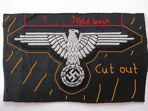 Need help how to sew SS Bevo eagle correctly