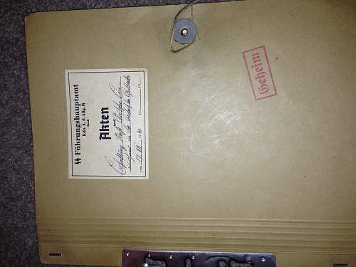 SS items of note.