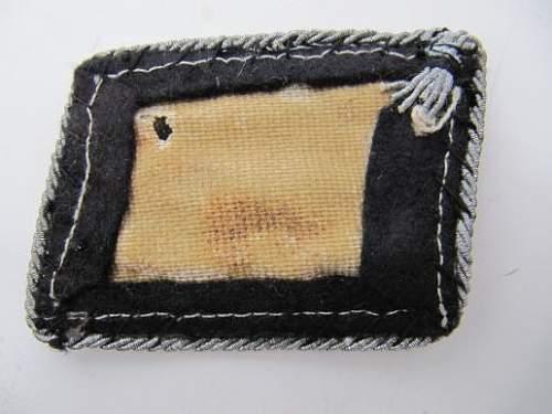 original totenkoph collar tab with post war upgrade?