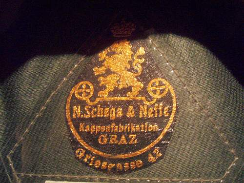 SS items of note: Maker marked visor hat