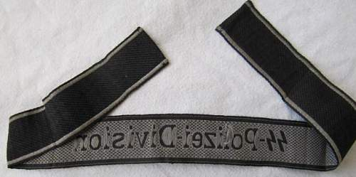 SS Politzei - Division BeVo Cuff Title