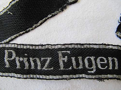 Prinz Eugen Officer's Flat Wire cufftitle tunic removed