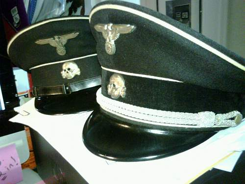 Early/Allgemeine SS Visor Cap Chin Strap Buttons