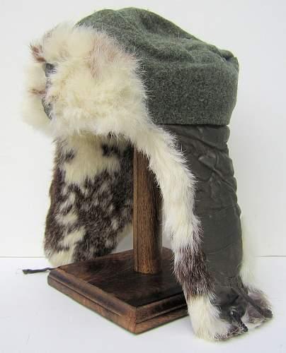 Waffen SS winter hat - rabbit fur cap