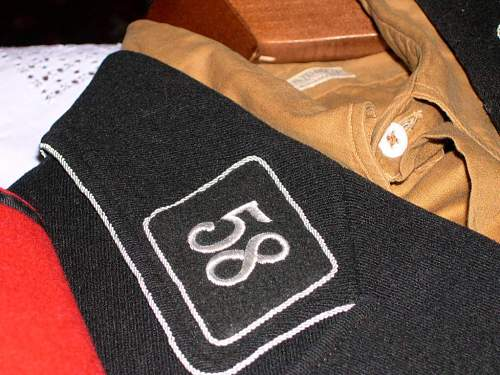 SS Collar tab and career badge