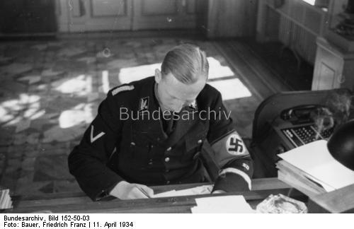 Heydrich in office, April 1934