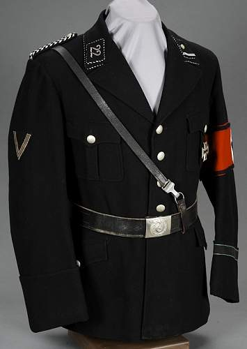 The black SS uniform then and now.