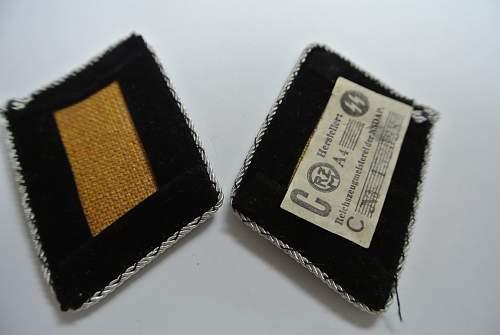 Real or Fake Obergruppenfurher collar tabs.