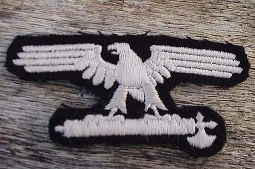 Italian SS  sleeve eagle