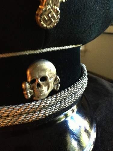 black SS officer's cap for sale.