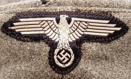 WAFFEN SS OFFICER'S FIELD CAP (private purchase)