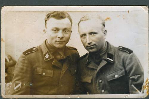 1944 Photo of Two Latvian SS Volunteers....Translation Needed on Info Written on the Back