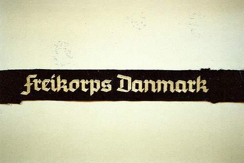 Click image for larger version.  Name:RAREfreikorpsDanmnarkCuffband.jpg Views:104 Size:67.1 KB ID:551422