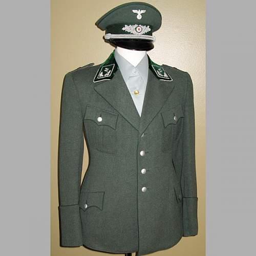 Rare green Open collar early SS tunic