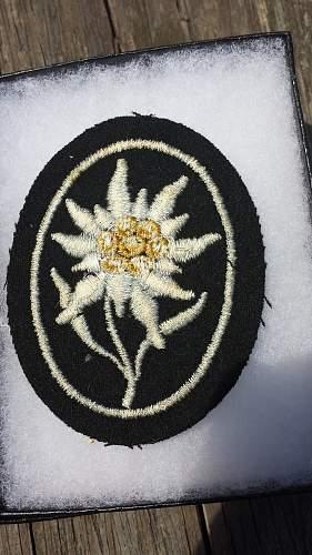 SS  Gebirgsjager Sleeve Insignia