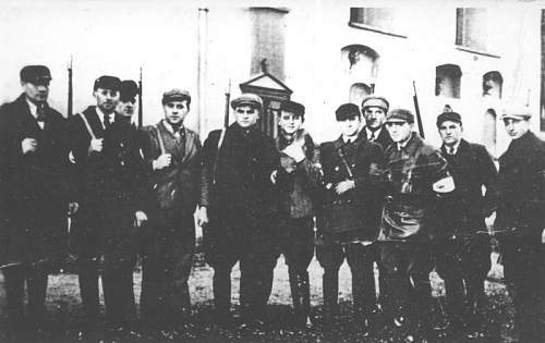 SS officers in Poland, ca. late 1939,  ethnic German Selbstschutz.