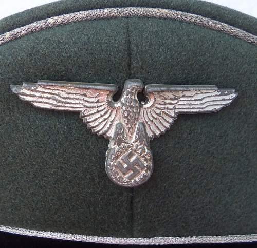 grey SS general's cap