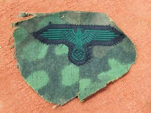 Green camo cap eagle cutt off