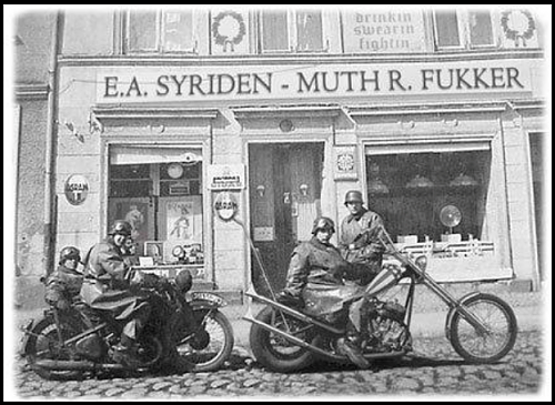 Great image of Gruppe Ost motorcycle riders