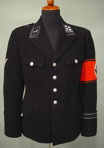 Black SS uniform in wear, 1943