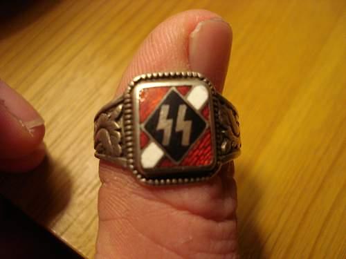 Latvian volunteer rings