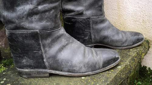 SS officer boots, question