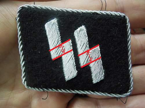 SS Officers collar tab: good or not?
