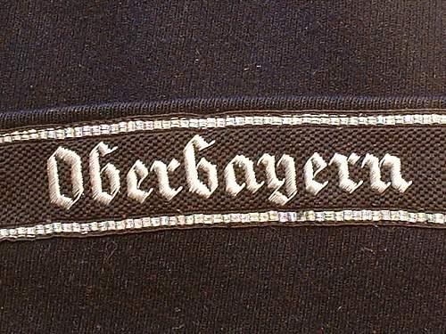 Oberbayern cuff title.