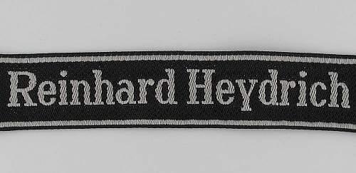 Reinhard Heydrich Cufftitle Fake?