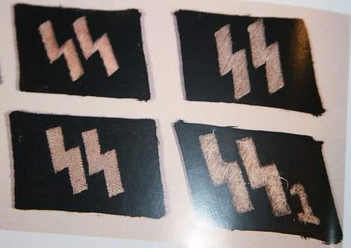 Flat wire SS runes collar tab