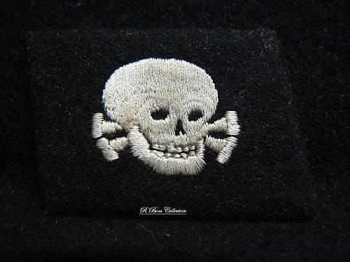 Embroiderd TK Pumpkin Head Tab