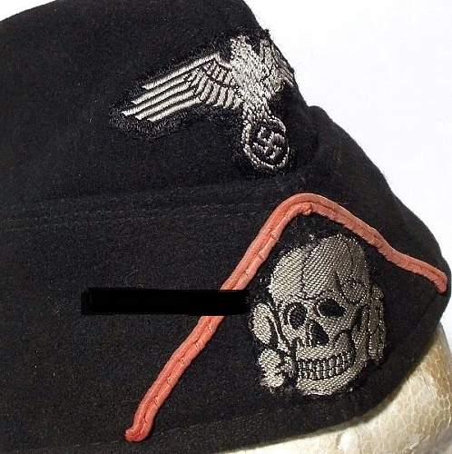Waffen SS Panzer sidecap with pink soutache