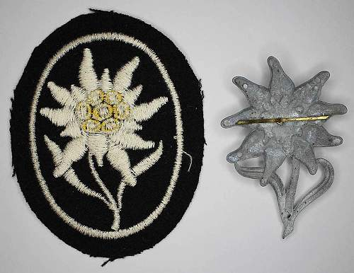 Cap and sleeve patch edelweiss