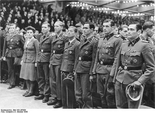 A nice shot of uniforms and awards