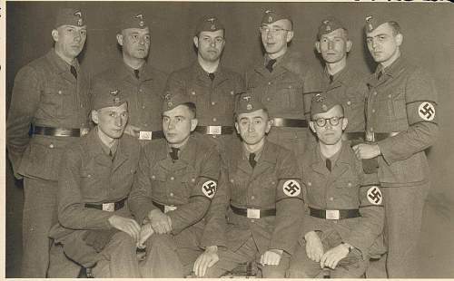 Flemish legion Waffen SS men with SS brassard....something I had not seen in fifty years of looking.